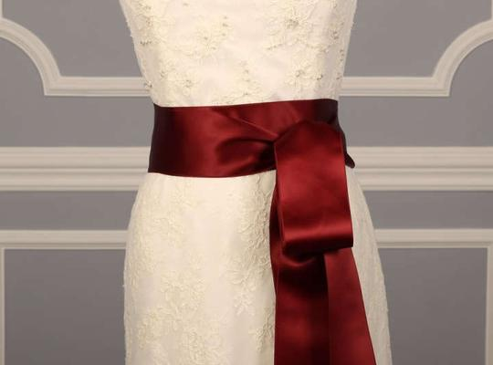 Dark Ruby Red Ribbon Sash
