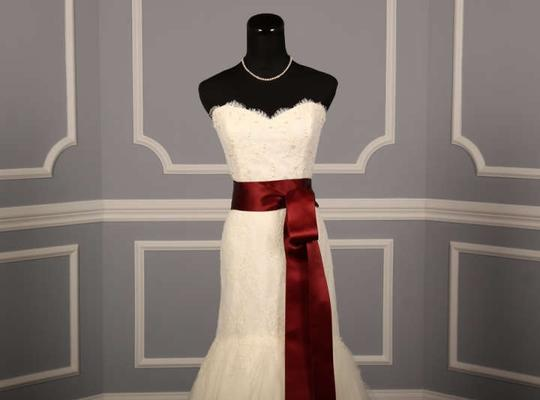 Dark Ruby Red Ribbon Sash Sashes