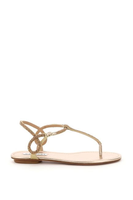 Item - Multicolored Almost Bare Beaded Flat Sandals Size EU 37 (Approx. US 7) Regular (M, B)