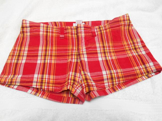 Abercrombie & Fitch And Af A & F Spandex Preppy Summer Campus Mini/Short Shorts Red Orange Yellow White