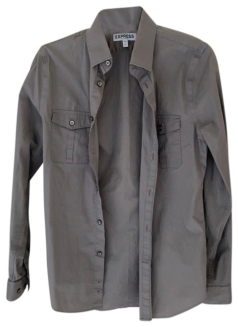 Item - Grey Men's Mk2 Shirt 14-14.5 Small Like New Button-down Top Size 4 (S)