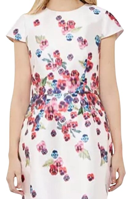 Item - White Red Blue Pink Ibia Sheath Night Out Dress Size 8 (M)