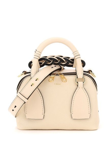 Item - Bowling Bag Daria Small Leather Beige Tote