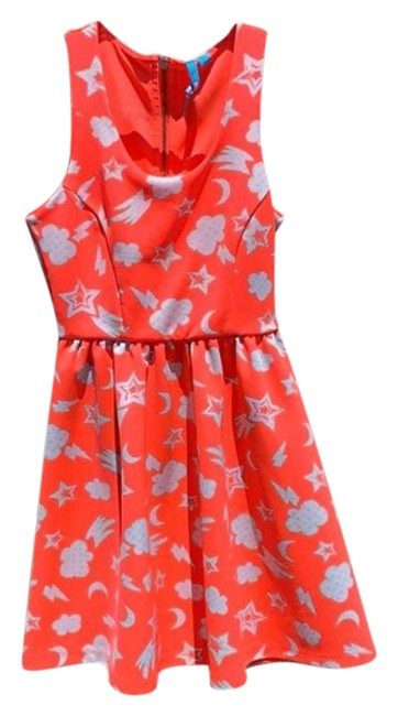 Item - White Pink Lamour Neon Short Casual Dress Size 4 (S)