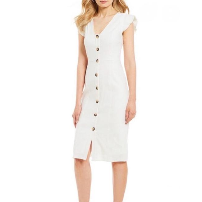Item - White Kinsley Button Midi Mid-length Short Casual Dress Size 2 (XS)