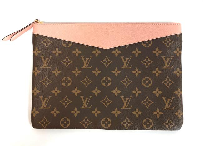 Item - Daily Pouch Brown & Pink Leather Clutch