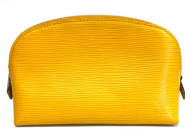 Item - Yellow Epi Pouch Cosmetic Bag