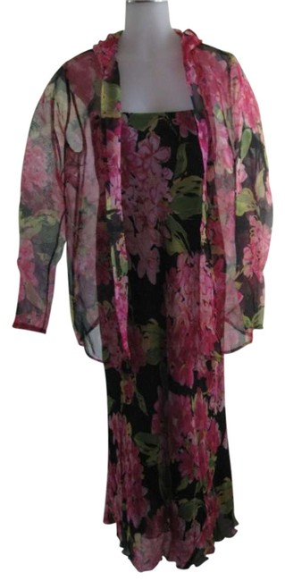 Pink with Floral Print Maxi Dress by Karen Kane