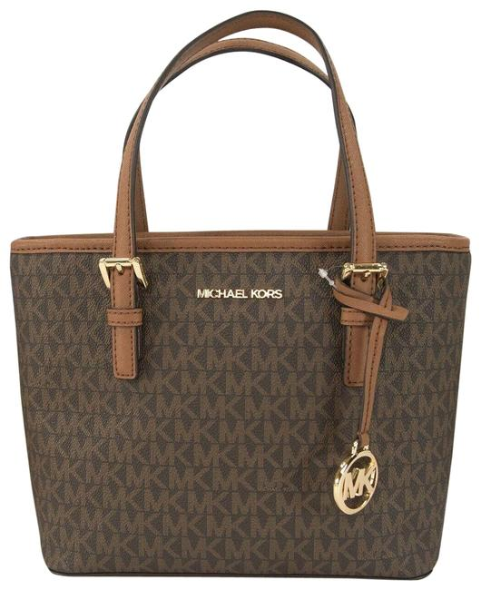 Item - XS Extra Small Monogram Luggage Travel Brown Faux Leather Tote