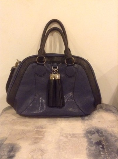 Romeo & Juliet Couture Satchel in Blue & Black