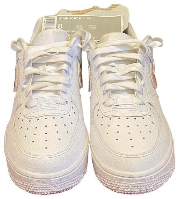 Item - White Air Force 1-100 with Replaceable Swoosh Sneakers Size US 8 Regular (M, B)