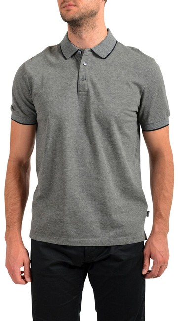 """Item - Gray Men's """"Prout 26"""" Sleeve Polo Tee Shirt Size 8 (M)"""