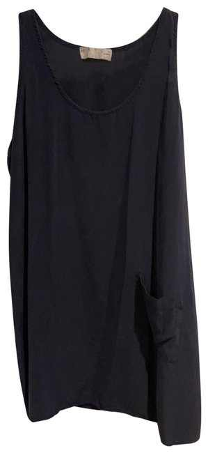 Item - Navy Blue Maternity Tunic with Pocket Tank Top/Cami Size 6 (S)