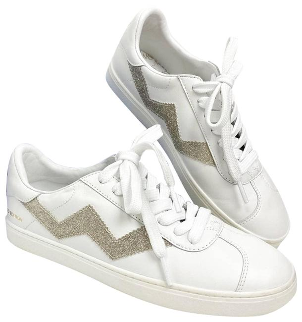 Item - White Daryl Leather Low-top Sneakers Size US 6 Regular (M, B)