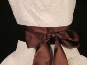 Coffee Brown Ribbon Sash 2 3/4