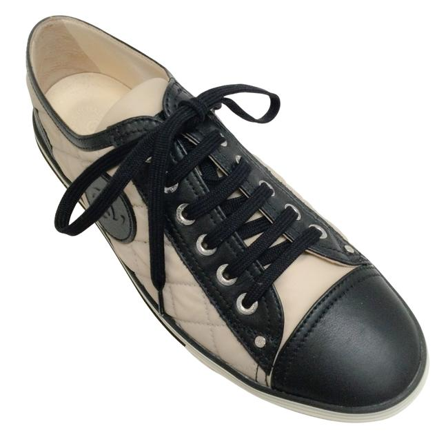 Item - Tan / Black Quilted Lace Up Sneakers Size EU 38 (Approx. US 8) Regular (M, B)