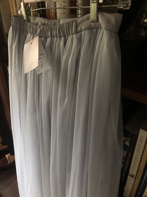 Item - White / Blue Grey Tulle Skirt / Lace Top 2 Piece And Destination Bridesmaid/Mob Dress Size 4 (S)
