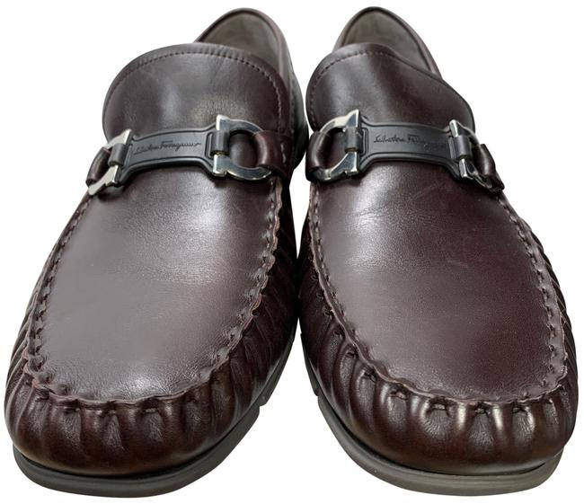 Item - 'tasby' Mens Brown Leather Gancini Bit Loafer 9e Formal Shoes Size US 9 Extra Wide (Ww, Ee)