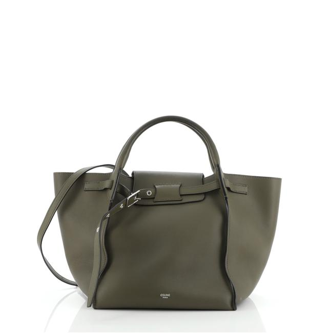 Item - Big Bag Smooth Calfskin Small Green Leather Tote