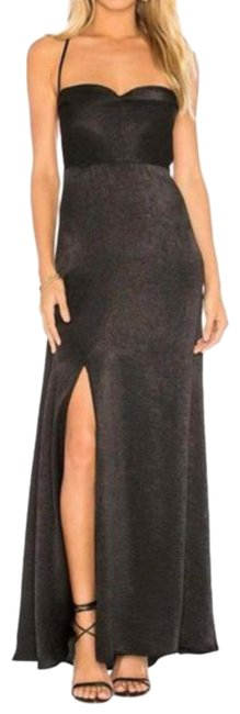 Item - Black New Winslet Maxi with High Slit Long Cocktail Dress Size 8 (M)