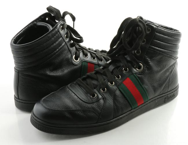 Item - Black Gg ssima Leather High-top Sneakers Shoes