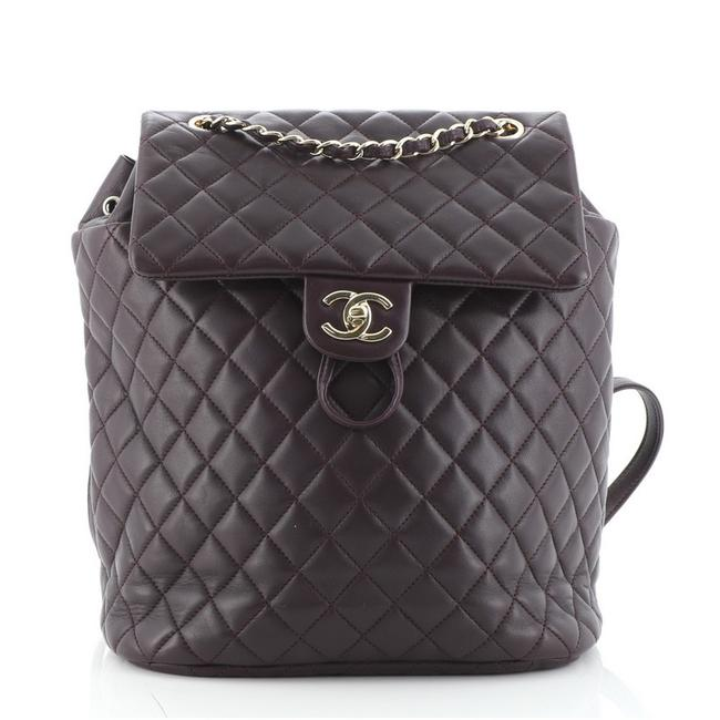 Item - Urban Spirit Quilted Lambskin Large Purple Leather Backpack