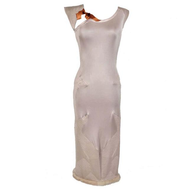 Item - Nude Tom Ford For Yves with Mink Fur Mid-length Night Out Dress Size 6 (S)