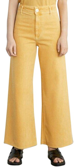 Item - Yellow Us 4 Marine High Waisted Denim Trouser/Wide Leg Jeans Size 27 (4, S)