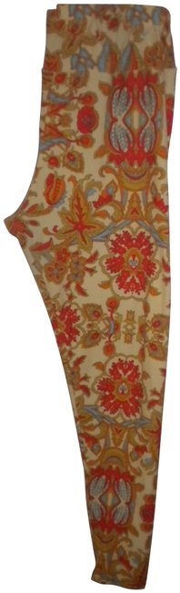 Item - Multicolor Tall & Curvy Women Floral Leggings Size OS (one size)
