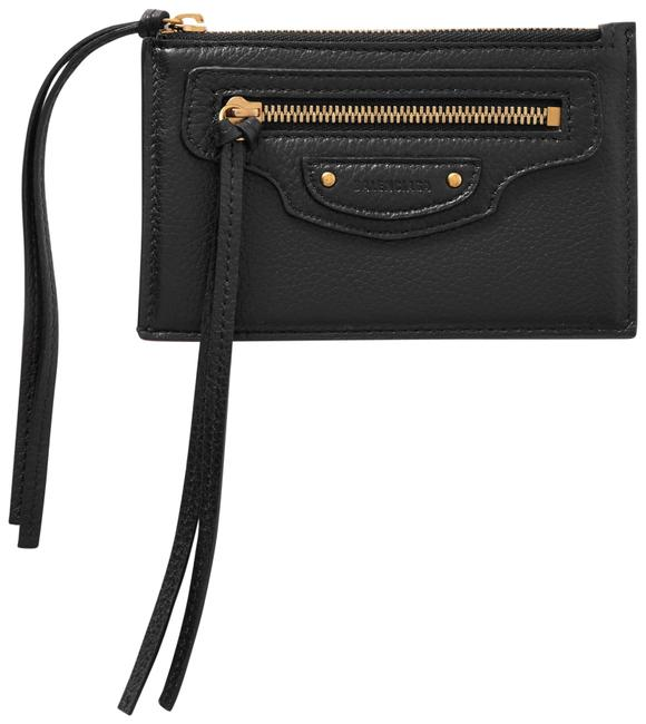 Item - Black Neo Classic Textured-leather Cardholder Wallet
