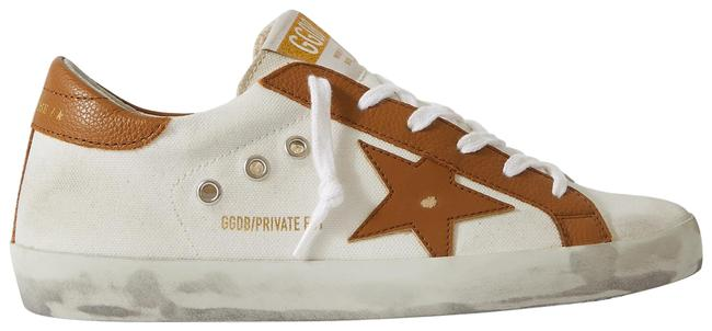 Item - Cream Superstar Distressed Textured Leather-trimmed Canvas Sneakers Size EU 40 (Approx. US 10) Regular (M, B)