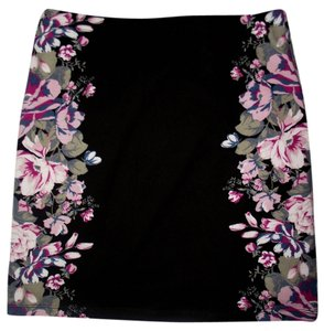 Xhilaration Mini Skirt Black Floral