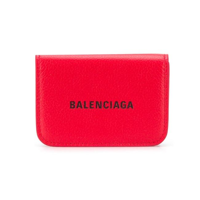 Item - Red Everyday Vivid Leather Logo Mini Trifold 551921 Wallet