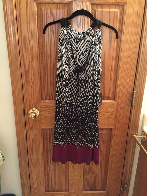 Adrianna Papell short dress Black, White and Wine on Tradesy