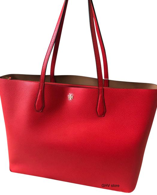 Item - Blake Tote-triple Compartment Red Leather Tote