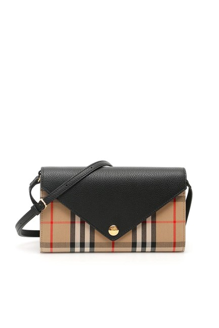 Item - Beige Hanna Vintage Check and Leather Wallet