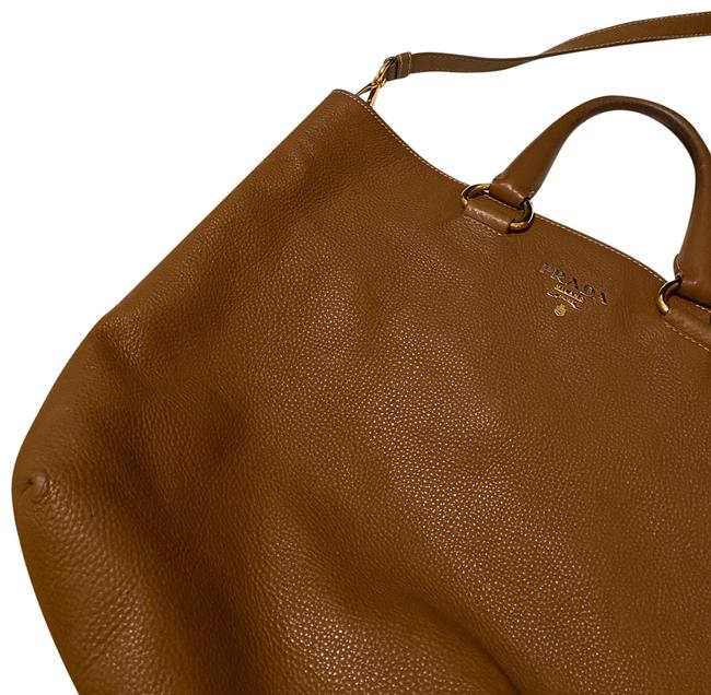 Item - Shopping Tote Vitello Daino Bb1713 Convertible Brown/Tan with Gold Hardware Leather Satchel