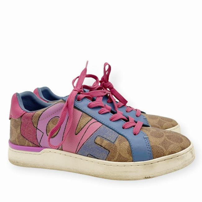 Item - Brown Pink Womens Lowline Low Top Love Leather Sneakers Size US 8 Regular (M, B)