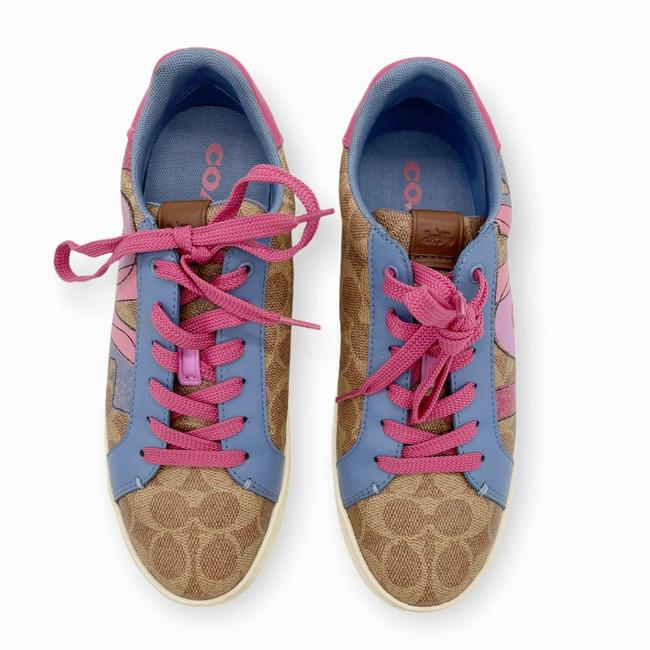 Coach Brown Pink Womens Lowline Low Top Love Leather Sneakers Size US 8 Regular (M, B) Coach Brown Pink Womens Lowline Low Top Love Leather Sneakers Size US 8 Regular (M, B) Image 3