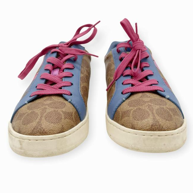 Coach Brown Pink Womens Lowline Low Top Love Leather Sneakers Size US 8 Regular (M, B) Coach Brown Pink Womens Lowline Low Top Love Leather Sneakers Size US 8 Regular (M, B) Image 4
