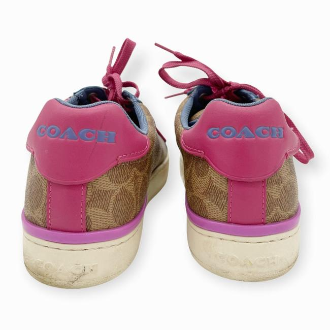 Coach Brown Pink Womens Lowline Low Top Love Leather Sneakers Size US 8 Regular (M, B) Coach Brown Pink Womens Lowline Low Top Love Leather Sneakers Size US 8 Regular (M, B) Image 5
