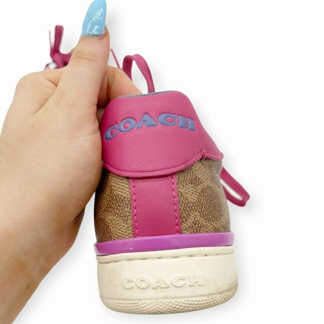 Coach Brown Pink Womens Lowline Low Top Love Leather Sneakers Size US 8 Regular (M, B) Coach Brown Pink Womens Lowline Low Top Love Leather Sneakers Size US 8 Regular (M, B) Image 6