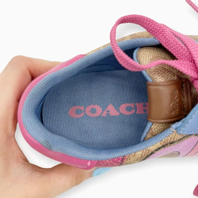 Coach Brown Pink Womens Lowline Low Top Love Leather Sneakers Size US 8 Regular (M, B) Coach Brown Pink Womens Lowline Low Top Love Leather Sneakers Size US 8 Regular (M, B) Image 9