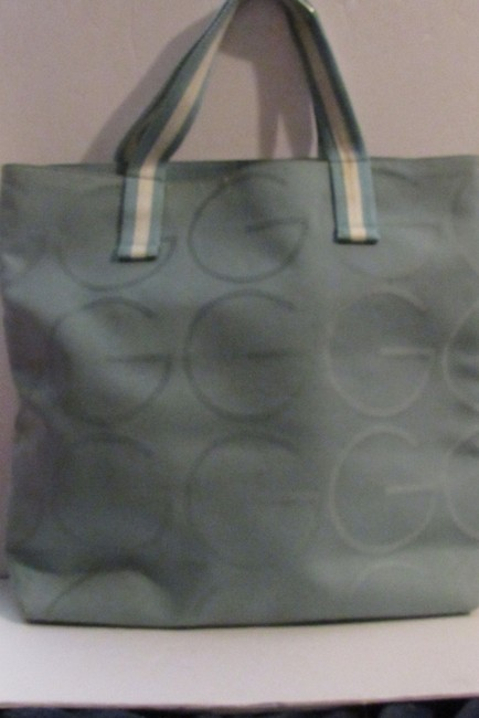 Gucci Bag Vintage Purses/Designer Purses Teal Xl G Logo/White Leather and Canvas Tote Gucci Bag Vintage Purses/Designer Purses Teal Xl G Logo/White Leather and Canvas Tote Image 9