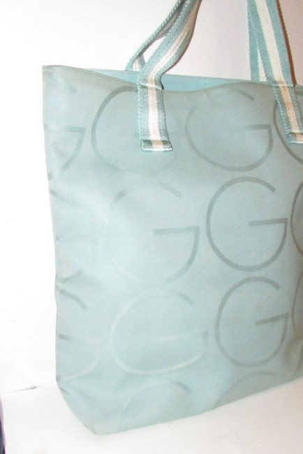 Gucci Bag Vintage Purses/Designer Purses Teal Xl G Logo/White Leather and Canvas Tote Gucci Bag Vintage Purses/Designer Purses Teal Xl G Logo/White Leather and Canvas Tote Image 10