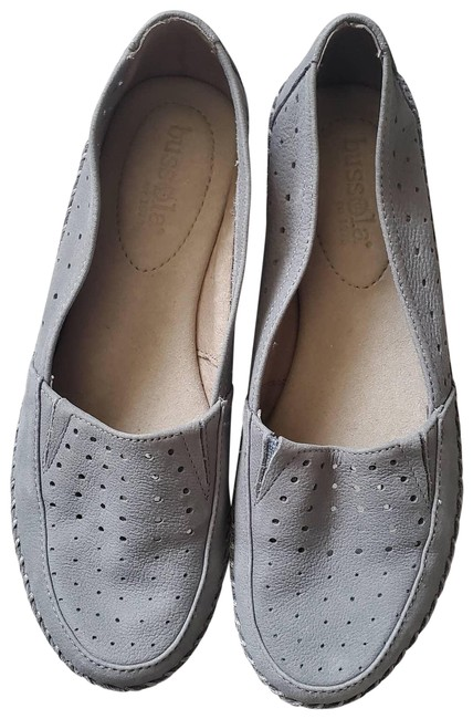 Item - Blue Leather Loafers Wedges Size EU 37 (Approx. US 7) Regular (M, B)