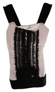 Codigo Sleeveless Lace Top Black & White