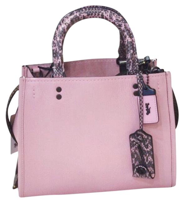 Item - Rogue25 59235colorblock Snack Detail Pink Leather Satchel
