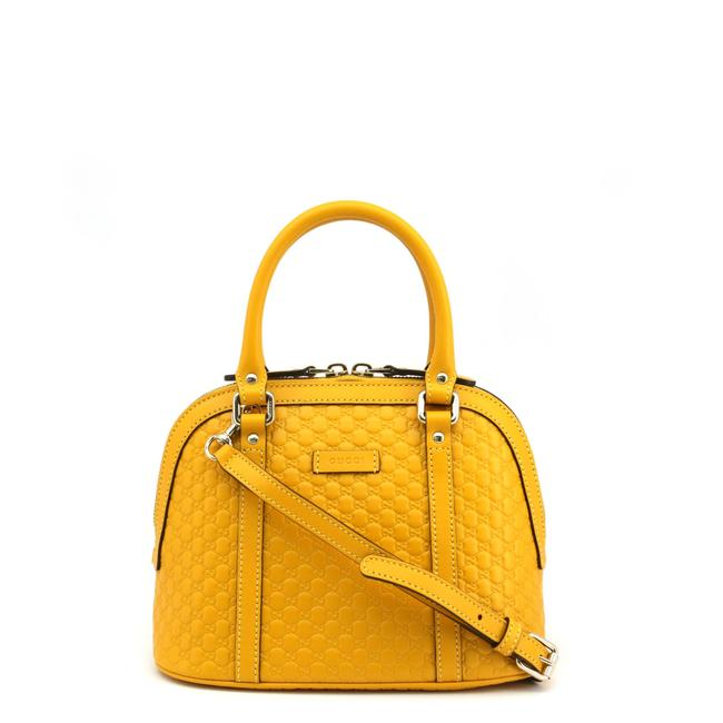 Item - Dome New Mini Micro Gg ssima Yellow Leather Shoulder Bag