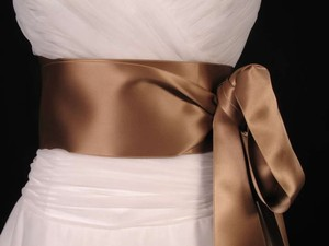 Sable Brown Ribbon Sash 4